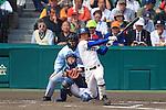 Yohei Kanaoka (Riseisha),<br /> APRIL 2, 2014 - Baseball :<br /> 86th National High School Baseball Invitational Tournament final game between Ryukoku-Dai Heian 6-2 Riseisha at Koshien Stadium in Hyogo, Japan. (Photo by Katsuro Okazawa/AFLO)6