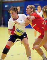 31 MAR 2010 - LONDON, GBR - Britains Lyn Byl tries to pass in the Great Britain v Iceland 2010 European Womens Handball Championships qualifier (PHOTO (C) NIGEL FARROW)