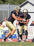 Palos Verdes, CA 11/03/17 - Aidan Kuykendall (Peninsula #7) and Wyatt Chang (Peninsula #9) in action during the Palos Verdes vs Palos Verdes Peninsula CIF Varsity football game at Peninsula High School for the battle of the hill.