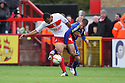 Darius Charles of Stevenage graples with Matt Ritchie of Swindon. Stevenage v Swindon Town - npower League 1 -  Lamex Stadium, Stevenage - 27th October, 2012. © Kevin Coleman 2012.