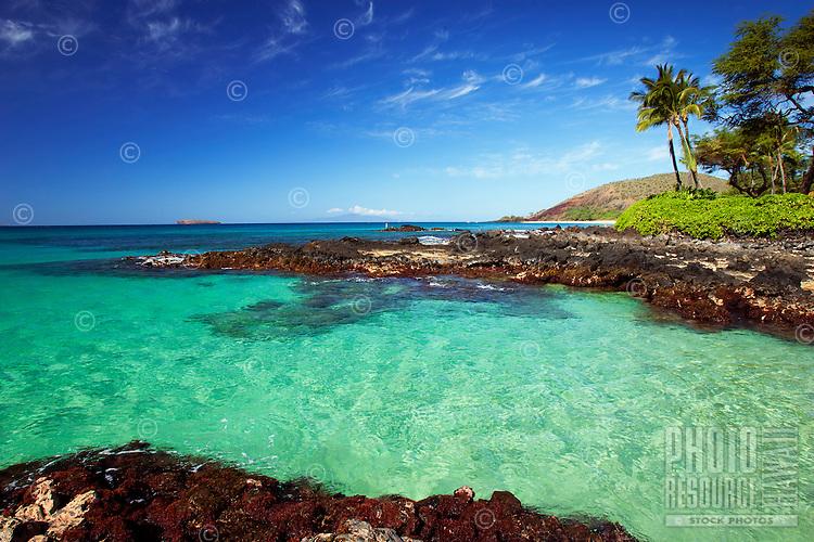 Clear water at Makena, Maui, Hawaii.