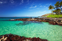 Clear water at Makena, Maui, Hawaii.