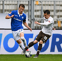 Tim Skarke (SV Darmstadt 98), Waldemar Sobota (FC St. Pauli) - 23.05.2020: Fussball 2. Bundesliga, Saison 19/20, Spieltag 27, SV Darmstadt 98 - FC St. Pauli, emonline, emspor, v.l. Stadionansicht Innenraum, Rasen Uebersicht vor dem Spiel<br /> <br /> <br /> Foto: Florian Ulrich/Jan Huebner/Pool VIA Marc Schüler/Sportpics.de<br /> Nur für journalistische Zwecke. Only for editorial use. (DFL/DFB REGULATIONS PROHIBIT ANY USE OF PHOTOGRAPHS as IMAGE SEQUENCES and/or QUASI-VIDEO)