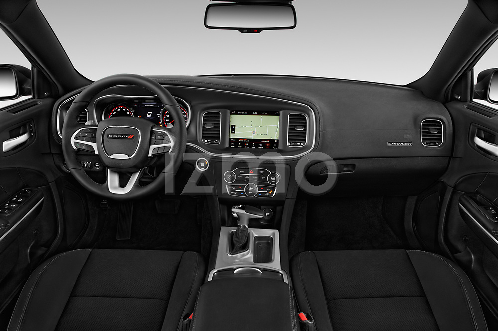 Stock photo of straight dashboard view of 2019 Dodge Charger GT 4 Door Sedan Dashboard