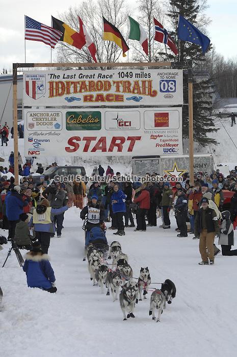 Jennifer Freking Willow restart Iditarod 2008.
