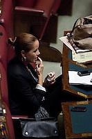 VOTAZIONE ALLA CAMERA DEI DEPUTATI IN SEDUTA COMUNE PER L  ELEZIONE DI UN GIUDICE DELLA CORTE COSTITUZIONALE..NELLA FOTO  FIORELLA CECCACCI RUBINO..ROMA 5 OTTOBRE  2011..PHOTO  SERENA CREMASCHI INSIDEFOTO..............................