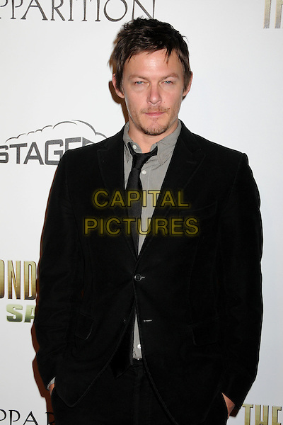"""NORMAN REEDUS.""""The Boondock Saints II: All Saints Day"""" Los Angeles Premiere held at Arclight Cinemas, Hollywood, California, USA..October 28th, 2009.half length black suit jacket stubble facial hair hands in pockets .CAP/ADM/BP.©Byron Purvis/AdMedia/Capital Pictures."""