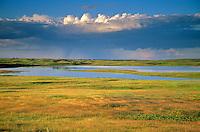 Rain storm over prairie with pothole ponds at Lostwood National Wildlife Refuge, Kenmare, North Dakota, AGPix_0265.