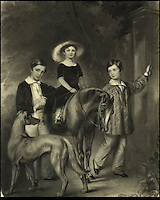 BNPS.co.uk (01202) 558833<br /> Picture: Bonhams<br /> <br /> Children of William Taylor Copeland, 1848<br /> <br /> It is the ultimate garden sale -- The aristocrat Cunliffe-Copeland family are auctioning off millions of pounds of antiques in a unique sale of the entire contents of their stately home Trelissick House near Truro in Cornwall. For generations the family have filled the magnificent The 18th century manor with treasures acquired from travels around the globe.<br /> <br /> 58 years ago the house was left to the National Trust on the condition members of the family could carry on living in the property. But the current incumbent, William Copeland and wife Jennifer, have decided to buy a normal-sized family home and are unable to take the hundreds of heirlooms with them. So they are holding a two-day sale of ancient ornaments, paintings, furniture, jewellery, silverware, books, rugs and wine in the grounds of Trelissick House, near Truro, later this month, and hope to raise &pound;3million