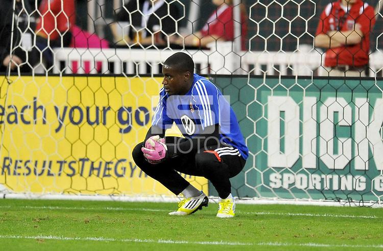 D.C. United goalkeeper Bill Hamid (28) D.C. United defeated The Columbus Crew 3-2 at RFK Stadium, Saturday October 20, 2012.