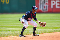 Cedar Rapids Kernels shortstop Jorge Polanco #5 fields during a game against the Lansing Lugnuts at Veterans Memorial Stadium on April 30, 2013 in Cedar Rapids, Iowa. (Brace Hemmelgarn/Four Seam Images)