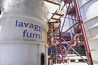 - centrale termoelettrica ENEL Palladio a Fusina, presso Porto Marghera,  impianto per il filtraggio delle emissioni inquinanti<br /> <br /> - ENEL thermoelectric plant Palladio in Fusina, near Porto Marghera, system for filtering pollutant emissions