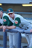 Fort Wayne TinCaps Joshua Spence during a game vs. the West Michigan Whitecaps at Fifth Third Field in Comstock Park, Michigan August 18, 2010.   Fort Wayne defeated West Michigan 5-1.  Photo By Mike Janes/Four Seam Images