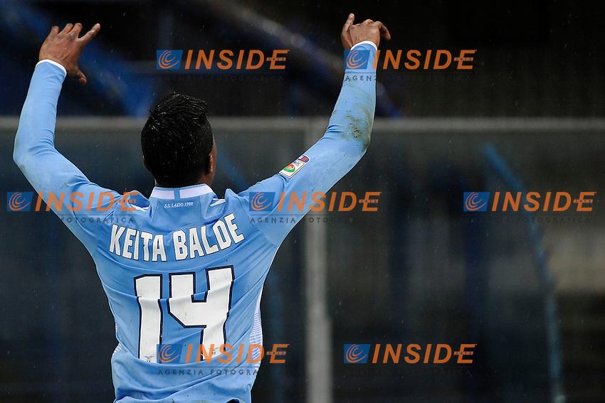 Esultanza Gol Keita Balde Lazio. Goal celebration <br /> Verona 02-02-2014 Stadio Bentegodi. Football Calcio Serie A 2013/2014 Chievo Verona - Lazio foto Insidefoto