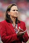 30 May 2012: Carla Overbeck and the other National Soccer Hall of Fame inductees present at the game were honored on the field before the game. The Brazil Men's National Team defeated the United States Men's National Team 4-1 at Fedex Field in Landover, Maryland in an international friendly soccer match.