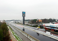 Snow delays running during Day 3 of the 2018 Formula 1 Testing at the Circuit de Catalunya, Barcelona. on 28 February 2018. Photo by Vince  Mignott.