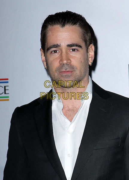 Colin Farrell.The US-Ireland Alliance Pre-Academy Awards Gala Held At Bad Robot, Santa Monica, California, USA..February 21st, 2013.headshot portrait black suit jacket white shirt stubble facial hair .CAP/ADM/FS.©Faye Sadou/AdMedia/Capital Pictures.