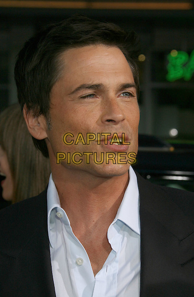 "ROB LOWE.""The Invention Of Lying"" Los Angeles Premiere held at Grauman's Chinese Theatre, Hollywood, California, USA..September 21st, 2009.headshot portrait white collar mouth black open funny face .CAP/ADM/MJ.©Michael Jade/AdMedia/Capital Pictures."