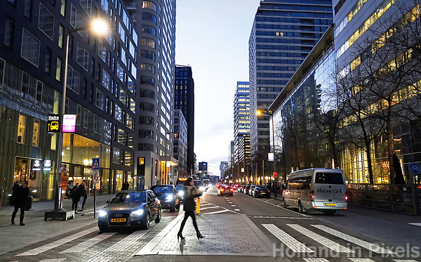 Nederland Amsterdam 2018 . De Zuidas. Gustav Mahlerlaan. Foto Berlinda van Dam / Hollandse Hoogte