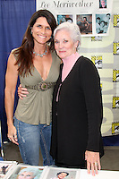 SAN DIEGO - JUL 21:  Lesley Aletter, Lee Meriwether at the 2011 Comic-Con Convention at San Diego Convetion Center on July 21, 2010 in San DIego, CA.