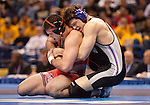 March 21 2009      Jake Herbert from Northwestern (black) wrestled against Mike Pucillo from Ohio State (red) in the 184 pound weight class in the championship round of the NCAA Division I  Wrestling Championships which were held March 19 through March 21, 2009 at the Scottrade Center in downtown St. Louis, Missouri.  Herbert won...         *******EDITORIAL USE ONLY*******