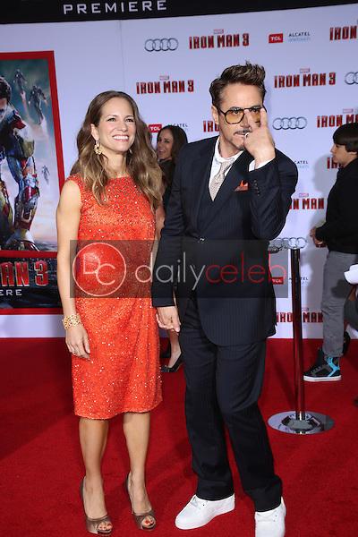 "Robert Downey Jr. and wife Susan Downey<br /> at the ""Iron Man 3"" Los Angeles Premiere, El Capitan, Hollywood, CA 04-24-13<br /> David Edwards/Dailyceleb.com 818-249-4998"