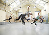 Balletboyz<br /> studio rehearsal for 'Young Men' at the BalletBoyz dance studio in Kingston, Surrey, Great Britain <br /> 16th September 2015 <br /> <br /> rehearsing in practice clothes the whole company :<br /> <br /> <br /> <br /> Andrea Carrucciu, Simone Donati, Flavien Esmieu, Marc Galvez, Oxana Panchenko, Edward Pearce, Leon Poulton, <br /> Harry Price, Matthew Rees, Matthew Sandiford, Bradley Waller, Jennifer White<br /> <br /> &lsquo;YOUNG MEN&rsquo; <br /> Press nights:  October 6th and 7th 2015 at Sadler's Wells, London.<br /> <br /> <br /> <br /> Directors/Producers:  Michael Nunn and William Trevitt<br /> Choreography:   Iv&aacute;n P&eacute;rez<br /> Music:   Keaton Henson<br /> Lighting design: Jackie Shemesh<br /> Costumes: Carlijn Petermeijer<br /> <br /> <br /> Photograph by Elliott Franks <br /> Image licensed to Elliott Franks Photography Services