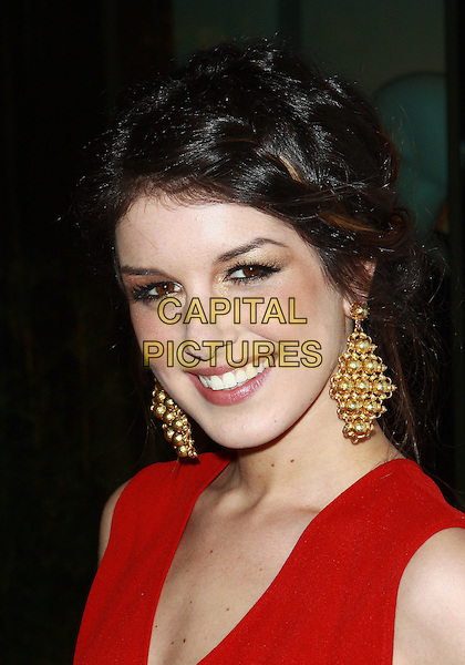 SHENAE GRIMES.WGACA 1 Year Anniversary Party  held at Space15Twenty, Los Angeles, California, USA, 18th March 2010..one arrivals portrait headshot red gold earrings dangly make-up eyeshadow .CAP/ADM/TC.©T. Conrad/AdMedia/Capital Pictures.