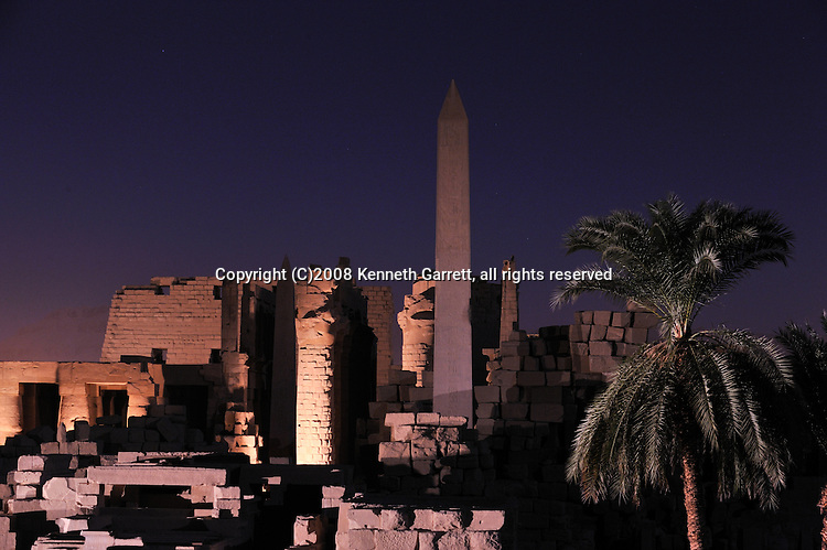 Hatshepsut, MM7715, Karnak Temple, Luxor, Hatshepsut Obelisk, Hypostyle Hall, sunset,