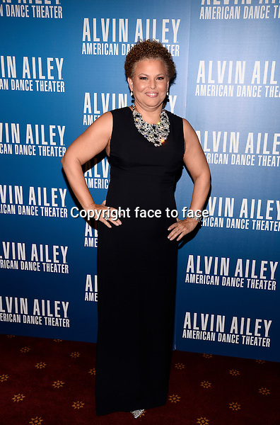 NEW YORK, NY - DECEMBER 04: Debra L. Lee pictured at Alvin Ailey's Opening Night Gala at New York City Center, on December 4, 2013 in New York City. Credit: RTNPluvious/MediaPunch Inc.<br /> Credit: MediaPunch/face to face<br /> - Germany, Austria, Switzerland, Eastern Europe, Australia, UK, USA, Taiwan, Singapore, China, Malaysia, Thailand, Sweden, Estonia, Latvia and Lithuania rights only -