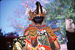 indonesia, Bali, adult woman wearing traditional costume, bali back lady