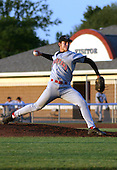 August 28, 2003:  Travis Chick of the Jamestown Jammers, Class-A affiliate of the Florida Marlins, during a NY-Penn League game at Dwyer Stadium in Batavia, NY.  Photo by:  Mike Janes/Four Seam Images
