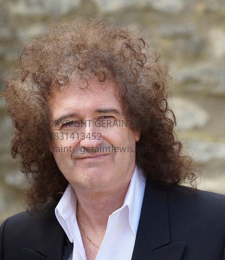Brian May,guitarist with Queen at Christchurch College at The Oxford Literary Festival 2010.CREDIT Geraint Lewis