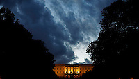 Clouds over the Royal Palace in central Oslo.