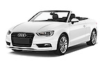 2015 Audi A3 Ambition 2 Door Convertible 2WD Angular Front stock photos of front three quarter view
