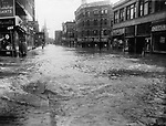 A view of the flood looking South on South Main Street.