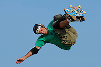 17 August, 2012:  Andy Macdonald competes in the Skateboard Vert semi-final at the Pantech Beach Championships in Ocean City, MD.