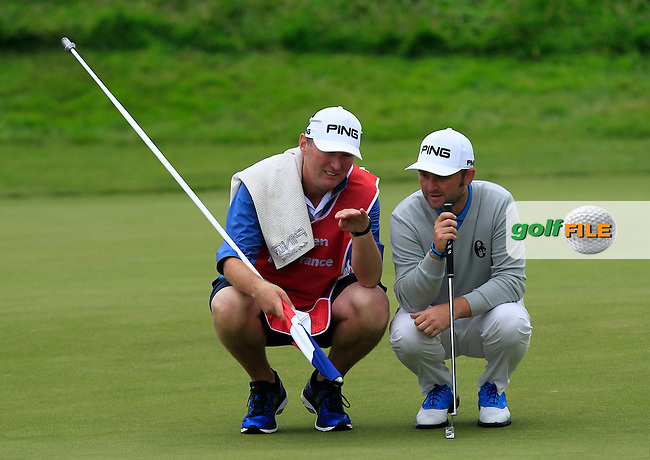 Andy Sullivan (ENG) on the 16th green during Round 4 of the 100th Open de France, played at Le Golf National, Guyancourt, Paris, France. 03/07/2016. <br /> Picture: Thos Caffrey | Golffile<br /> <br /> All photos usage must carry mandatory copyright credit   (&copy; Golffile | Thos Caffrey)
