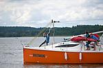 Jachty na jeziorze Niegocin. Giżycko