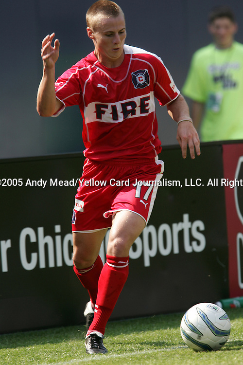 16 July 2005: Chris Rolfe. The Chicago Fire and Columbus Crew tied 1-1 at Soldier Field in Chicago, Illinois in a regular season Major League Soccer game.