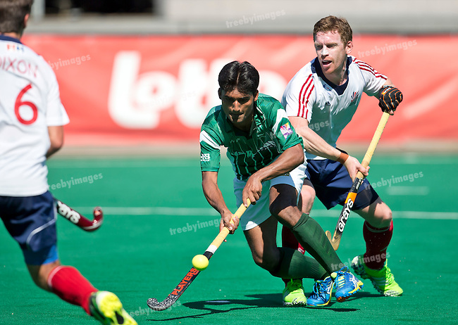 01/07/2015<br /> HWL Semi Final Antwerp Belgium 2015<br /> Great Britain v Pakistan Men<br /> Muhammad Dilber<br /> Photo: Grant Treeby