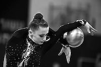 Yana Lukonina of Russia performs with ball at 2011 Holon Grand Prix, Israel on March 4, 2011.  (Photo by Tom Theobald)  .