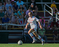 Newton, Massachusetts - September 6, 2015: NCAA Division I. In overtime, St John's University (white) defeated Boston College (maroon), 2-1, at Newton Campus Soccer Field.