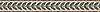 "5"" Ariano border, a hand-cut stone mosaic, shown in polished Botticino, Emperador Dark, and Verde Alpi."