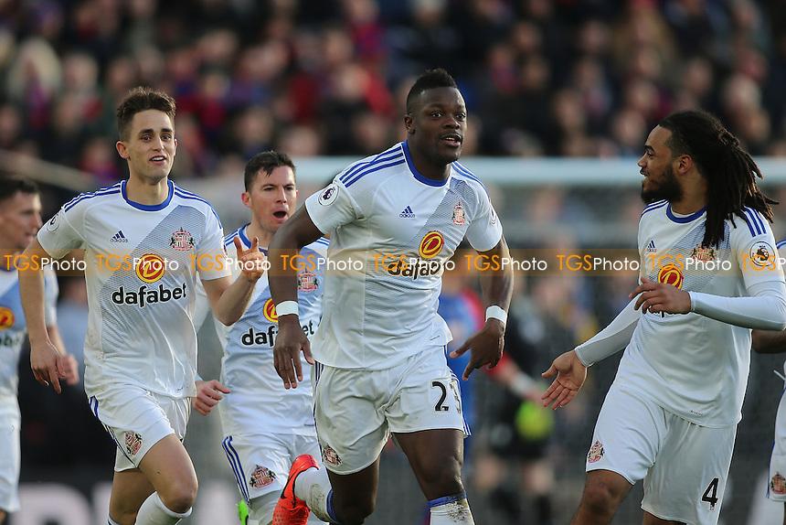 \Lamine Kone of Sunderland scores and celebrates during Crystal Palace vs Sunderland AFC, Premier League Football at Selhurst Park on 4th February 2017