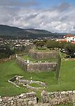 Fortifications and massive defensive town walls  Valença do Minho, Portugal
