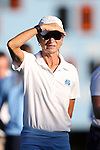 23 September 2016: UNC head coach Karen Shelton. The University of North Carolina Tar Heels hosted the Syracuse University Orange at Francis E. Henry Stadium in Chapel Hill, North Carolina in a 2016 NCAA Division I Field Hockey match. UNC won the game 3-2 in two overtimes.