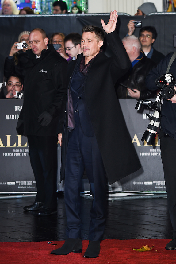 """Brad Pitt<br /> at the """"Allied"""" UK premiere, Odeon Leicester Square, London.<br /> <br /> <br /> ©Ash Knotek  D3202  21/11/2016"""