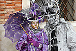 Costume characters during the Carnival of Venice 2011 in Venice, Italy.  This year's carnival festival occurs February 26 to March 8.