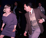 Candice Earley and Cliff Lipson dancing at a party for the Miracle Publishing Company on February 1, 1984 in New York City.